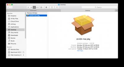 Envi 5.4 mac file…