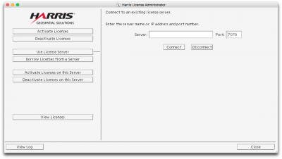 Connect to an existing license server…