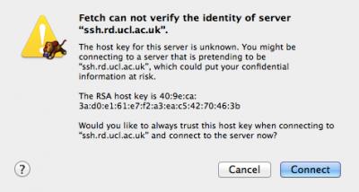 Fig 4. Verify host key dialog box…