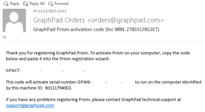 Graphpad Prism activation code email…