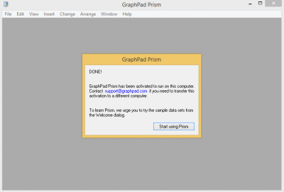 Graphpad activation complete…