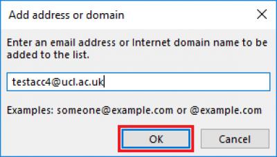 Fig 4. Add address or domain window…