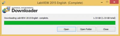 LabVIEW downloader complete…