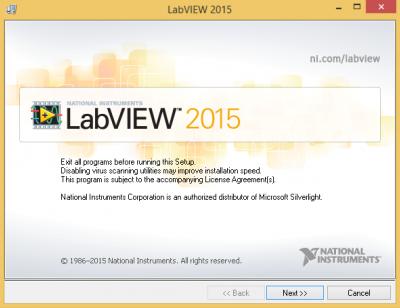 LabVIEW installation…