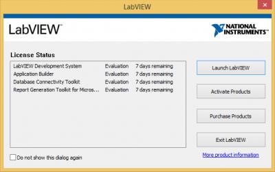 LabVIEW license status…