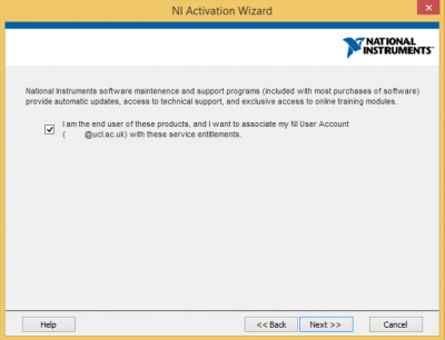 Associate products to NI user account…