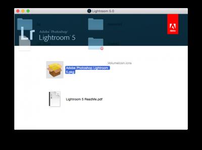 Photoshop Lightroom installer icon…