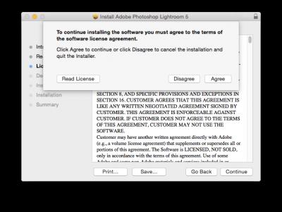 Adobe software agreement…