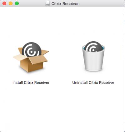 Mac Citrix Receiver Install screen…