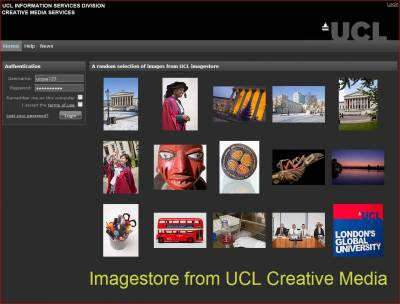 Main Imagestore screen…