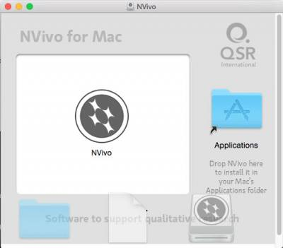 Drag NVivo Icon to Applications Folder…