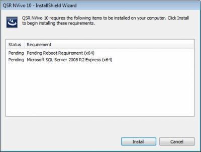 Nvivo Windows SQL Install…