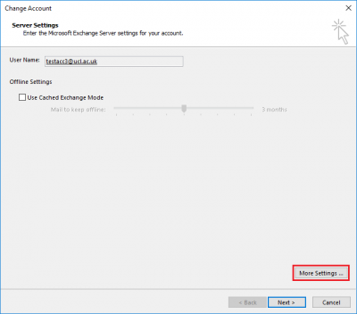 Fig 3. Location of More Settings option…