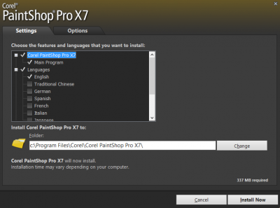 Choose Features and installation option…