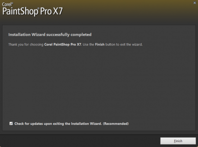 Installation wizard successfully completed…