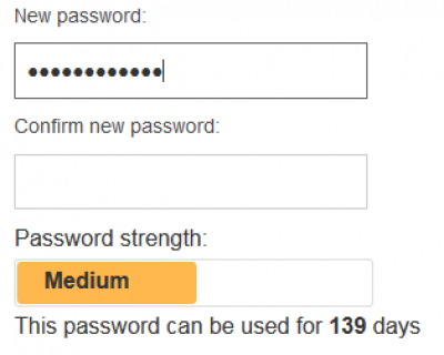 MyAccount Password Meter…