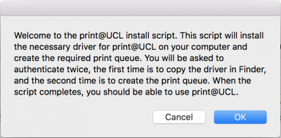 Print@UCL Auto Install Message…