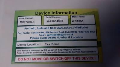 Device asset label…