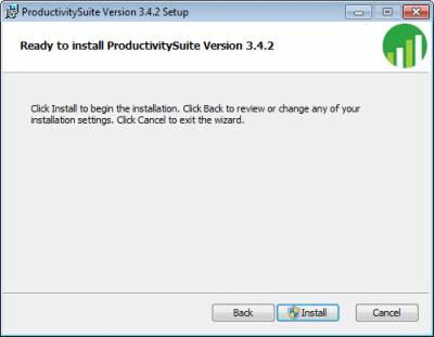 Click Install to Begin Installation…