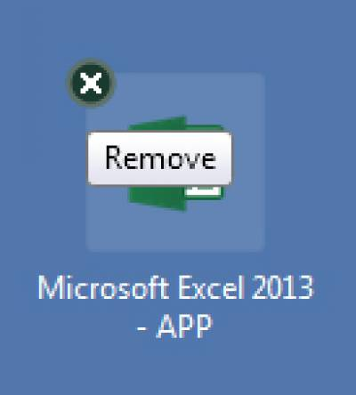 Removing an app on the Citrix Receiver screen…