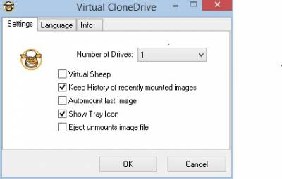 Virtual CloneDrive settings…