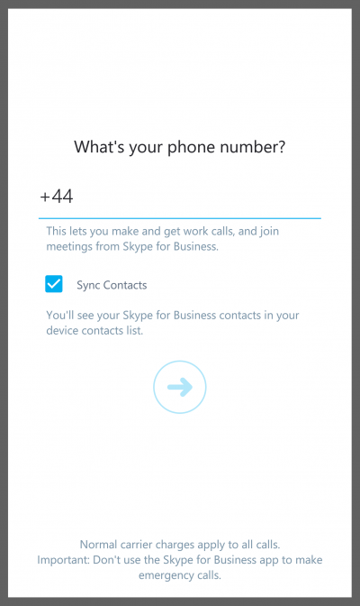 Install and Log in to Skype for Business for Android