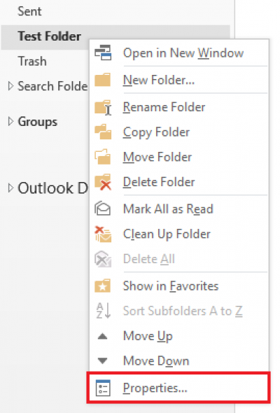 Sharing a folder in Outlook 2016 for Windows | Information