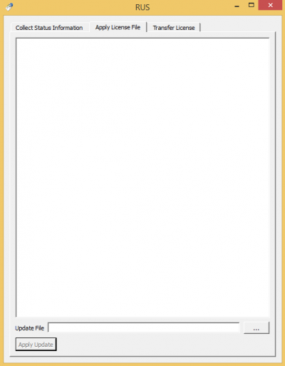 Apply License tab…