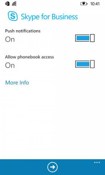 Fig 6. Push Notifications and Allow phonebook access…