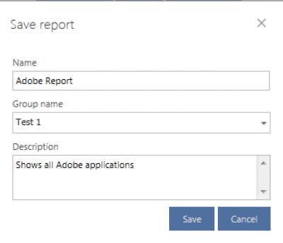 Save Report settings…