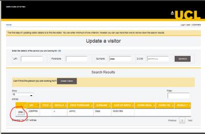 Update a Visitor2…
