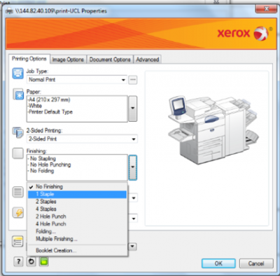 print ucl how to customise your print output information