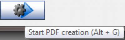 Start PDF Creation button…