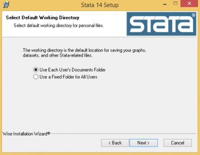 Default working directory…