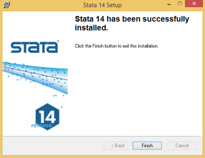 Stata has successfully installed…