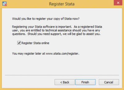 How to install Stata windows | Information Services Division - UCL