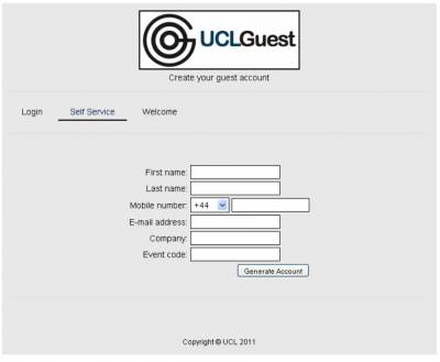 UCLGuest Self service page…
