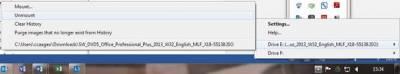 Unmounting a virtual drive…