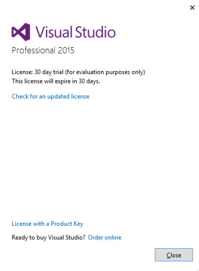 License with a product key…