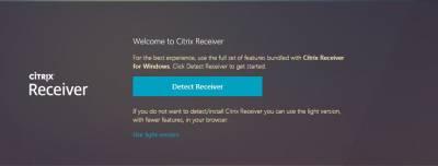 Welcome to Citrix Receiver Chrome…
