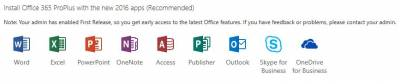 Win365 includes Word, Excel, Powerpoint, OneNote, Access, Publisher, Outlook, Skype for Business, OneDrive for Business and Infopath…