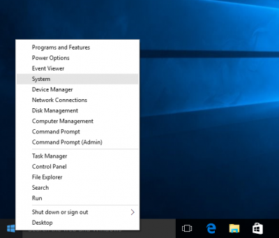 Right-click Windows Logo…