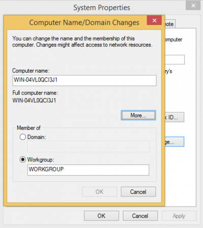 Computer Name-Domain changes…