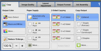 Xerox Output Options…