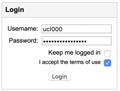 Image of login box