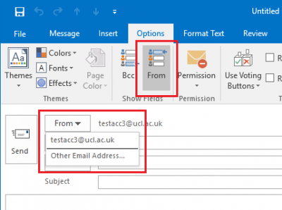 Fig 1. Select 'Other E-mail Address' in the 'From' field