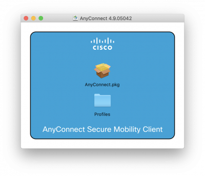 Cisco AnyConnect installation file