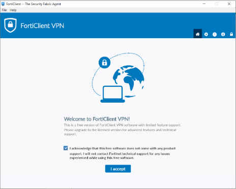 Welcome to FortiClient VPN