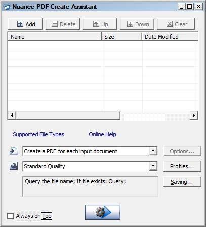 Creating PDF files with Nuance PDF Professional 7 PDF Create
