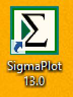 Right click SigmaPlot icon…